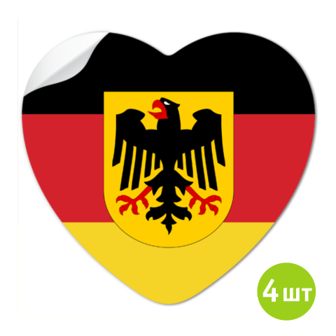 наклейки флаг германии